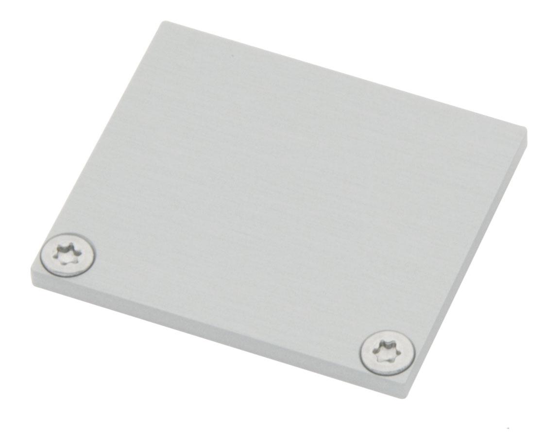 1 Stk Profil Endkappe CLF Eckig geschlossen inkl. Schrauben LIEK006120