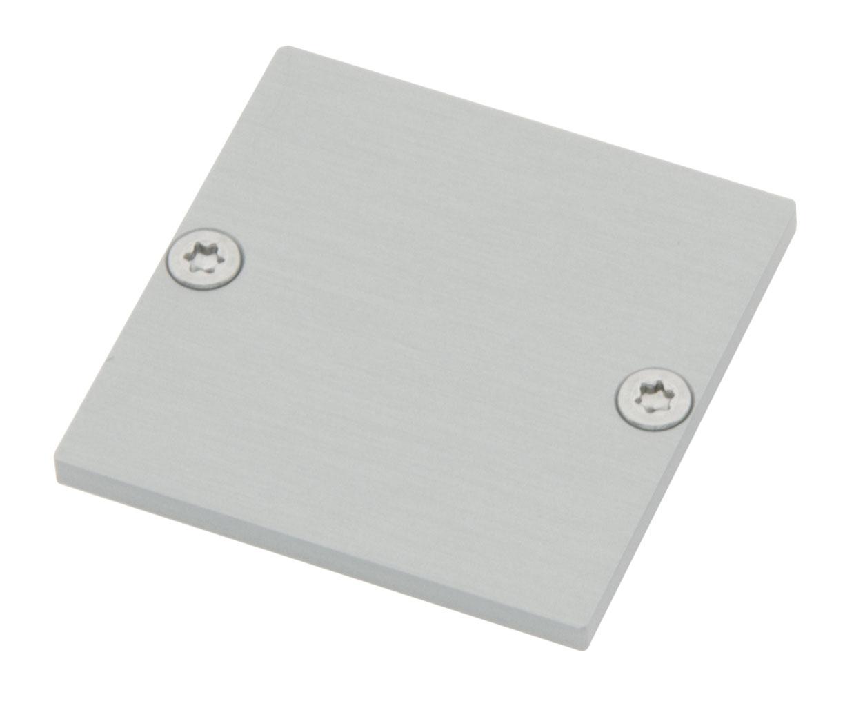 Profil Endkappe CLR Flach geschlossen inkl. Schrauben