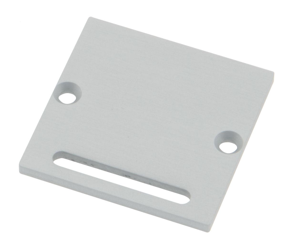 Profil Endkappe CLR Flach mit Langloch inkl. Schrauben