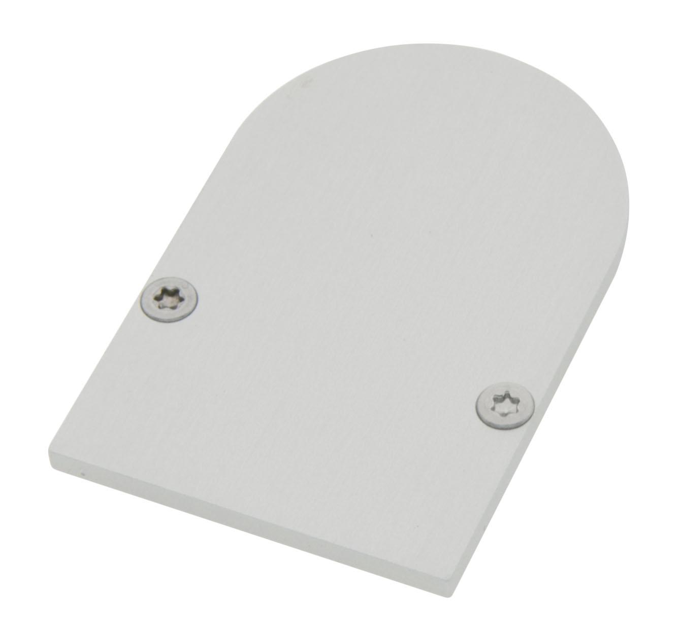 1 Stk Profil Endkappe CLR Rund geschlossen inkl. Schrauben LIEK006210