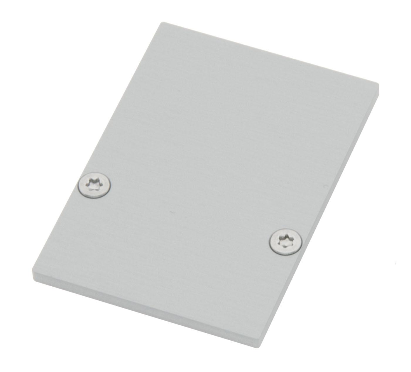 1 Stk Profil Endkappe CLR Eckig geschlossen inkl. Schrauben LIEK006220