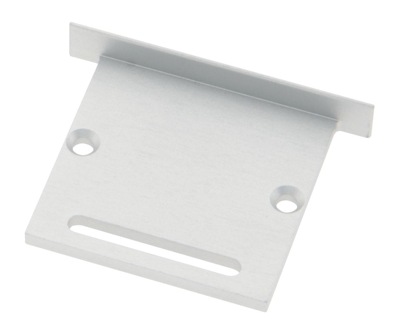 Profil Endkappe CLI Flach mit Langloch inkl. Schrauben