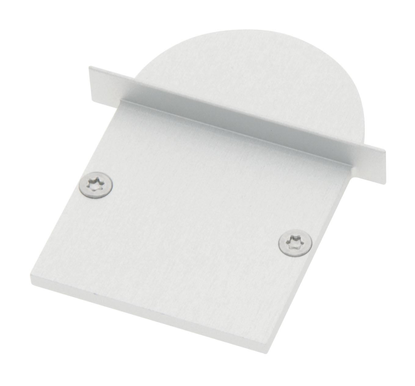 1 Stk Profil Endkappe CLI Rund geschlossen inkl. Schrauben LIEK006310