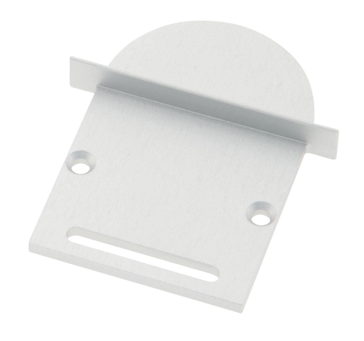 Profil Endkappe CLI Rund mit Langloch inkl. Schrauben