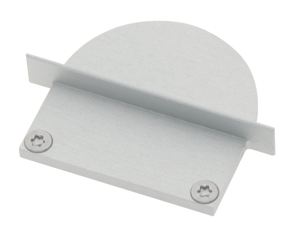 1 Stk Profil Endkappe CLU Rund geschlossen inkl. Schrauben LIEK006410