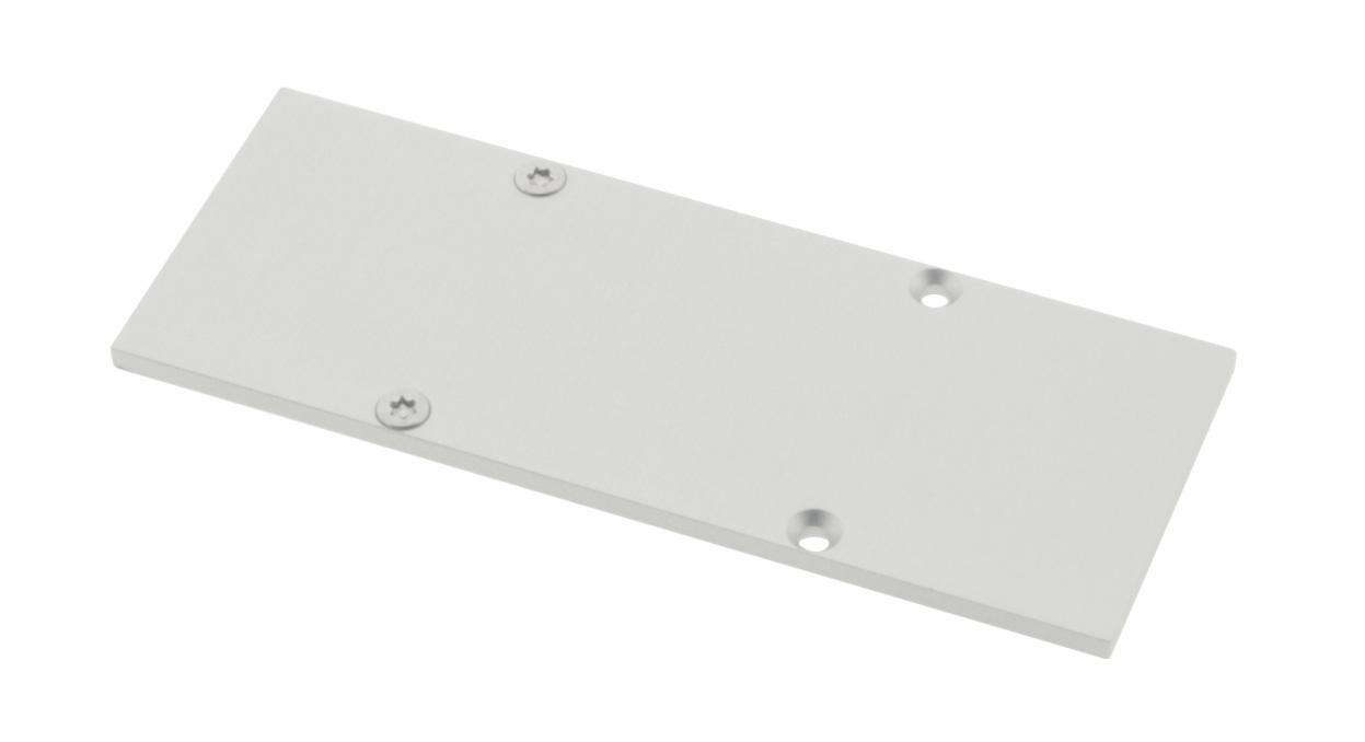 1 Stk Profil Endkappe CLW Flach geschlossen inkl. Schrauben LIEK006500