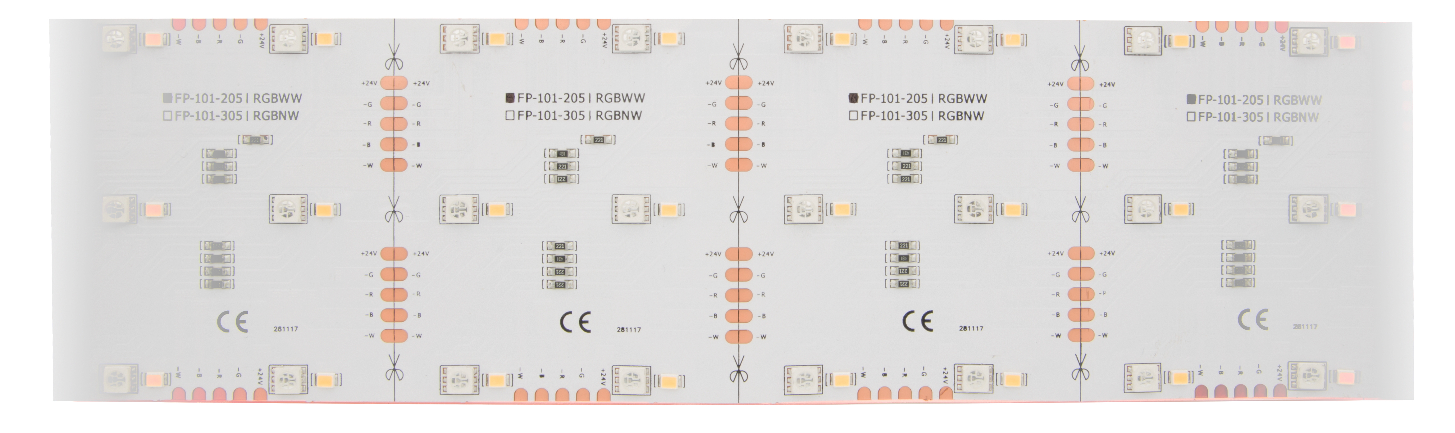 1 Stk LED Flexboard 14 RGB WW (Warm Weiss) - IP20, CRI/RA 90+ LIFP102205