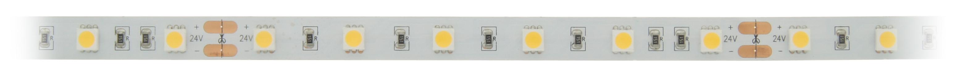 FS 60, NW, Ra=90+, 14W/m, 1160lm/m, 24VDC, IP44, l=5m