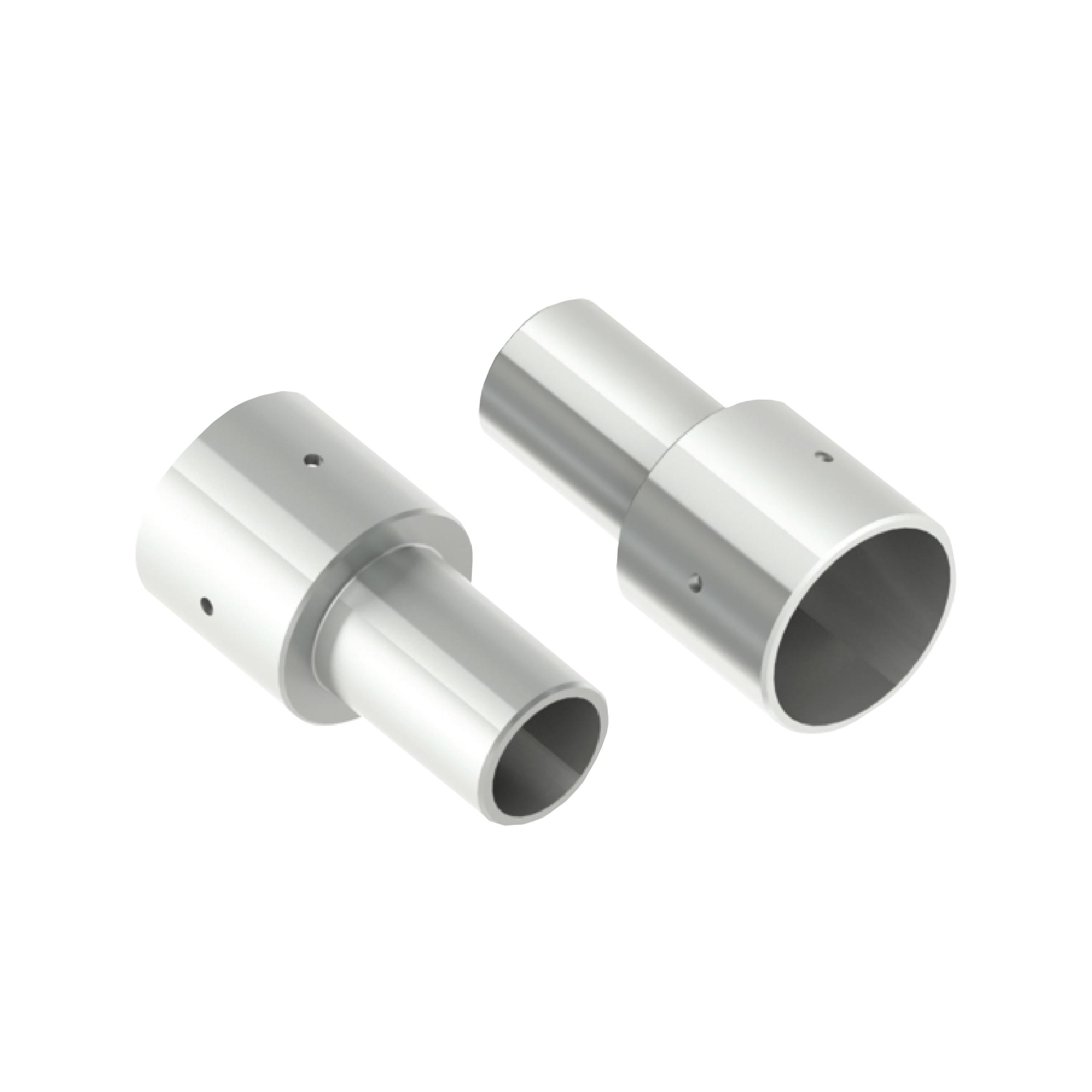 1 Stk RUBINIO LED Adapter 60 auf 76 mm, grau LIG1517817