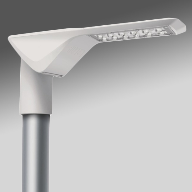 RUBINI LED 27W 3250lm 740, asymmetrisch, IP65, grau