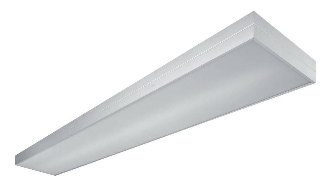 1 Stk Elumi Square Anbau 2x28/54W, T5, QTI, EVG, eloxiert LIH0000052