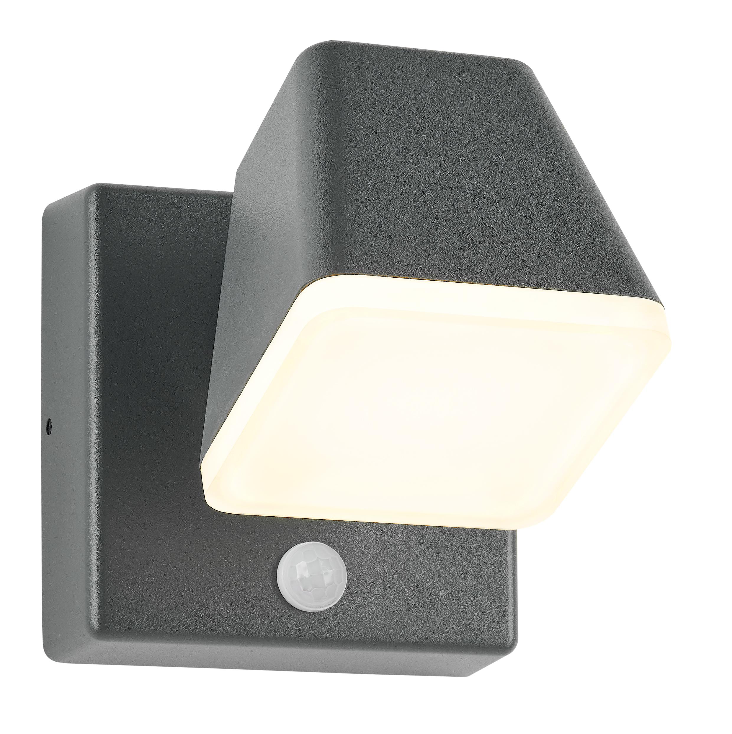 1 Stk Zeta LED Square Single PIR 12,5W 800lm 3000K EVG IP54 anthr. LIHGWA33--