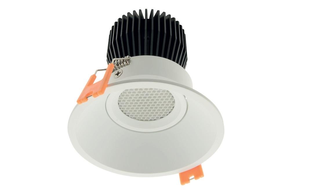1 Stk LED Downlight 95 High Output WW (Warm Weiss), Schwarz, IP43 LILD959236