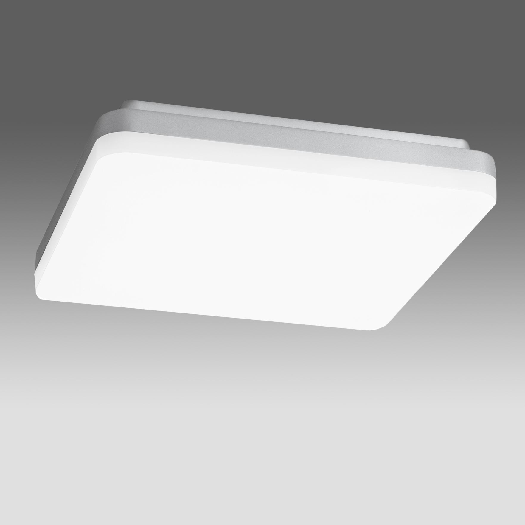 1 Stk Elegance Square III 27W 2800lm 4000K Sensor IP20 silber LILE0044--