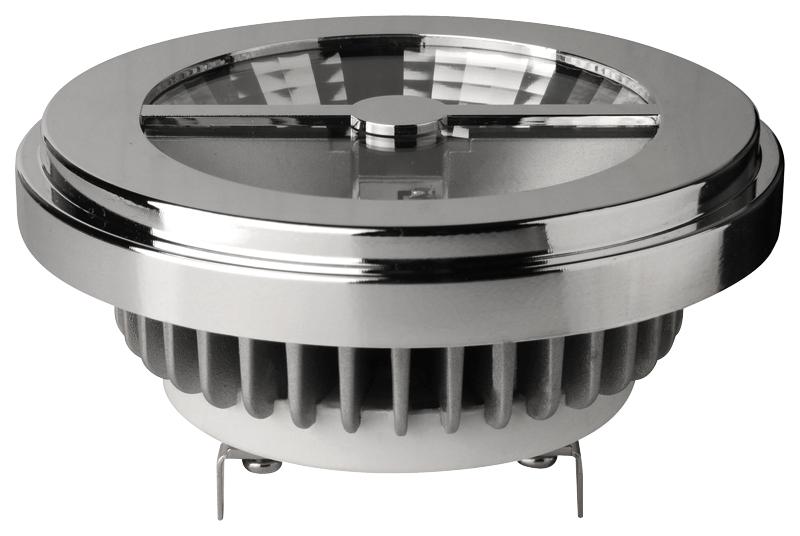 LED Reflektor, AR111 G53, 12V, 11W, 2800K, 600lm, 45°, DIMM