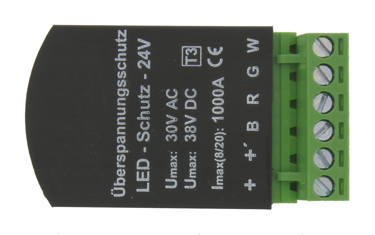 1 Stk Ãœberspannungsschutz 24V für DW, RGB, RGBW Strips LINZ024004