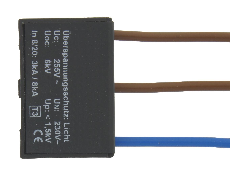 1 Stk Ãœberspannungsschutz 230V ohne PE (Schutzleiter) LINZ230000