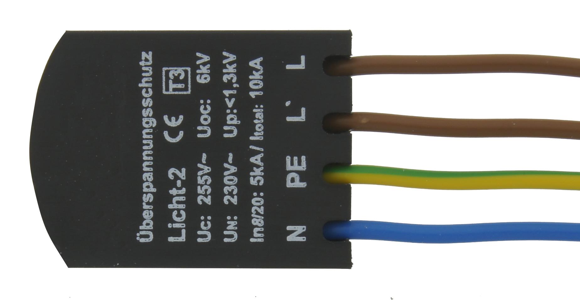 1 Stk Ãœberspannungsschutz 230V mit PE (Schutzleiter) LINZ230001