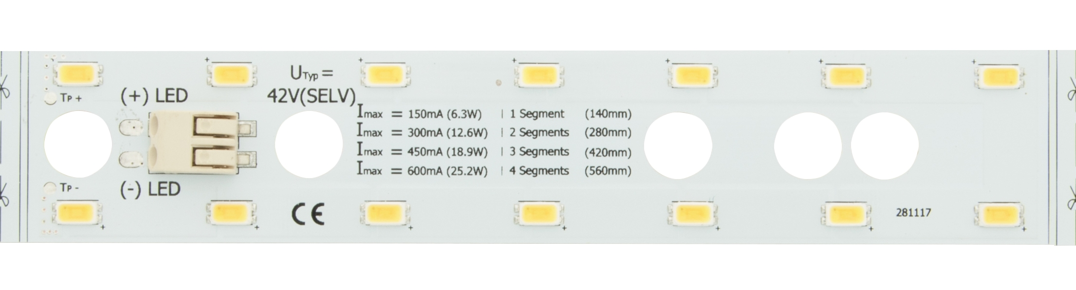 1 Stk LED Platinen Modul 25 NW (Neutral Weiss) - IP20, CRI/RA 80+ LIPM002840