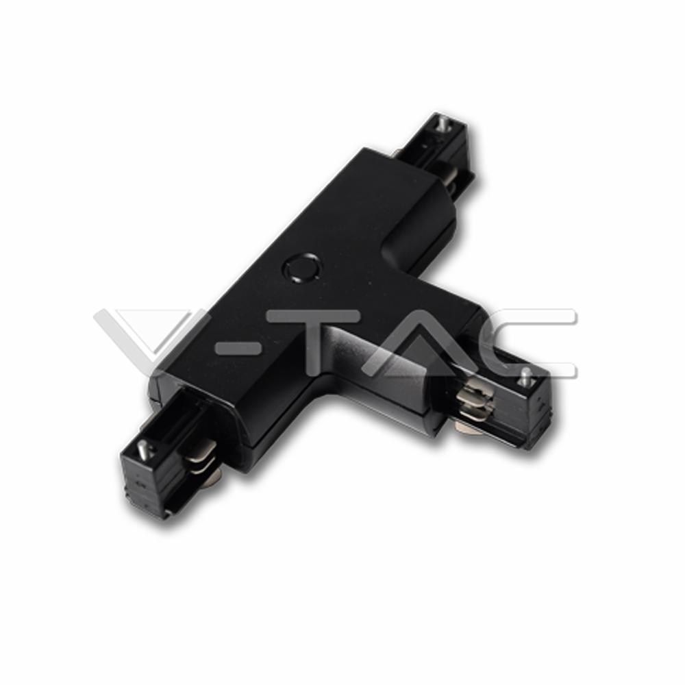 1 Stk T-Verbinder für Stromschienensystem Serie V-TAC, schwarz LIVT3524--