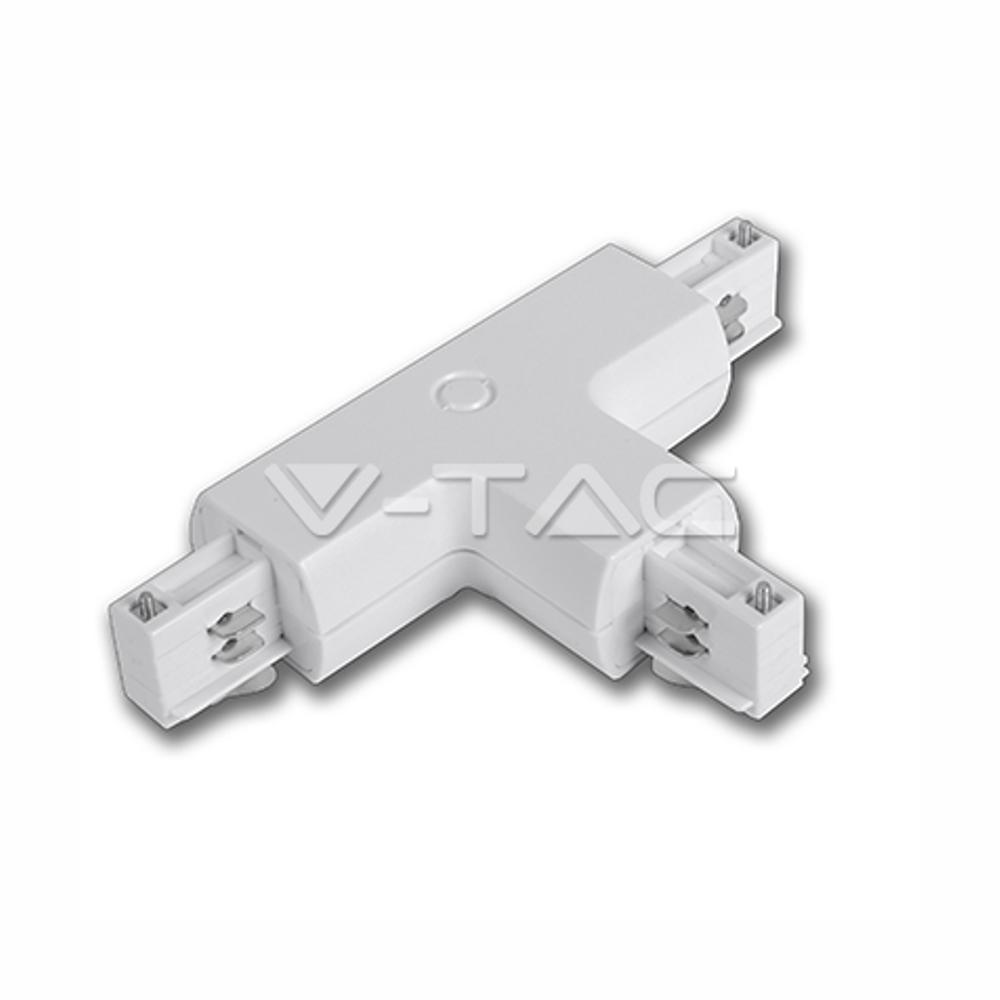 1 Stk T-Verbinder für Stromschienensystem Serie V-TAC, weiß LIVT3525--
