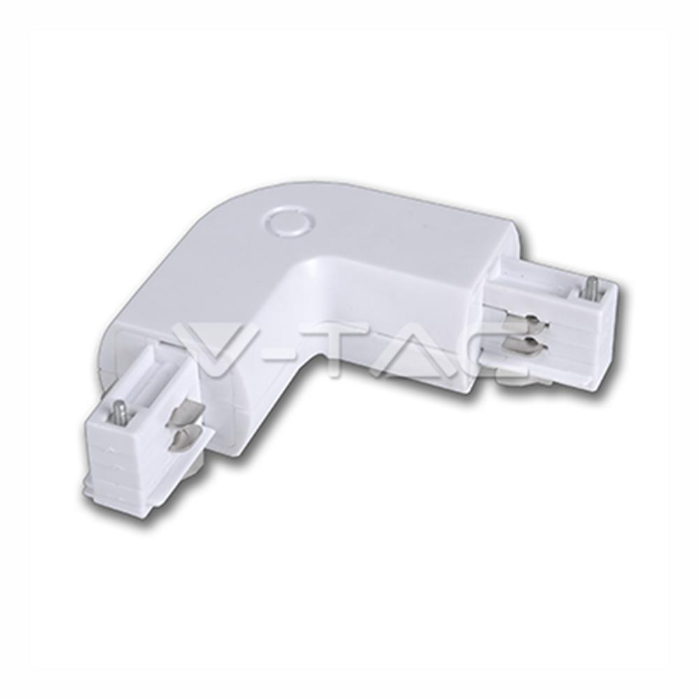 Eckverbinder für Stromschienensystem Serie V-TAC, weiß