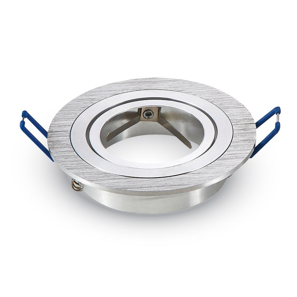 Einbauspot 1xGU10 rund, aluminium gebürstet