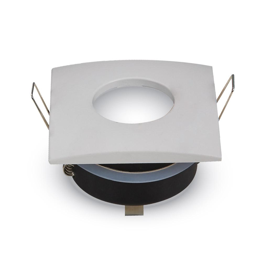 Einbauspot GU10 eckig IP54, weiß