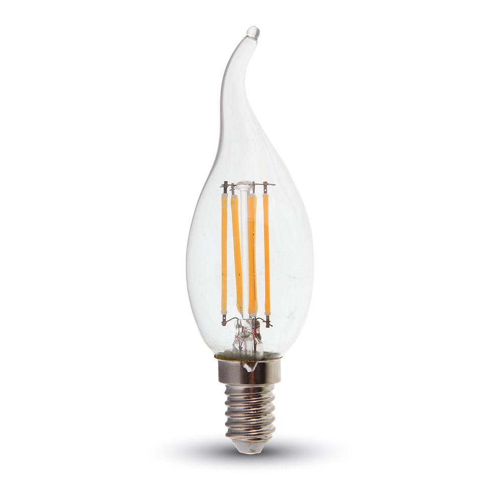 LED Kerze 4W Filament E14 Flamme 2700K, 400lm, 300°