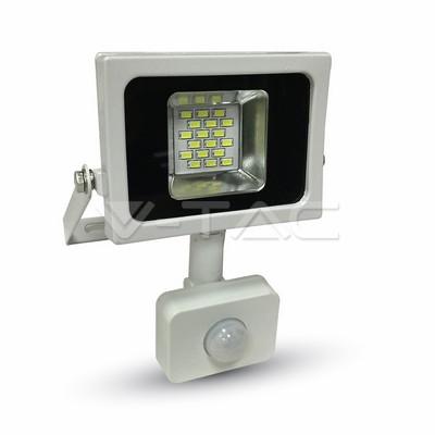 LED Floodlight 10W weiß 4500K, 800lm, IP44, Sensor