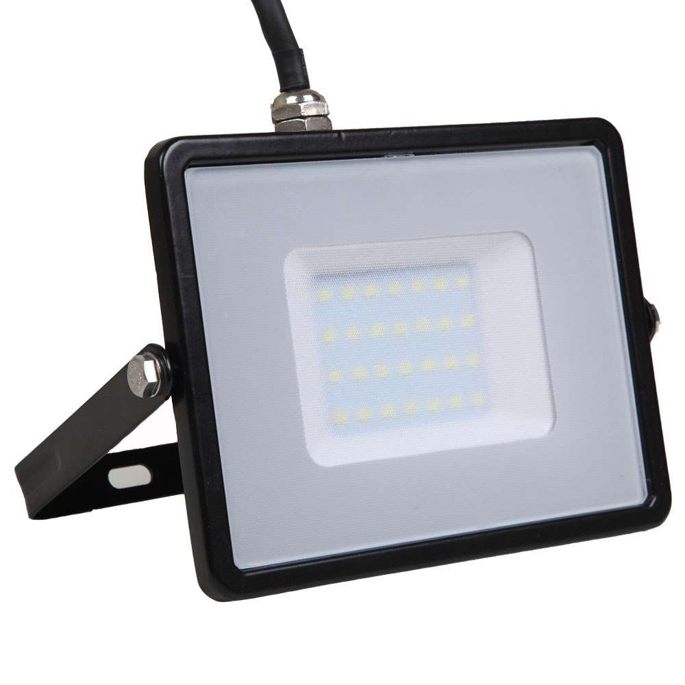 LED Floodlight 30W, 830, 2400lm, IP65, 230V, schwarz