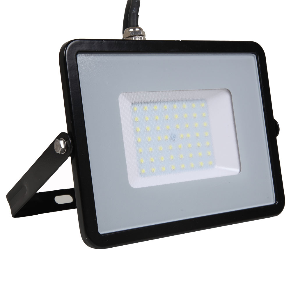 LED Floodlight 50W, 830, 4000lm, IP65, 230V, schwarz