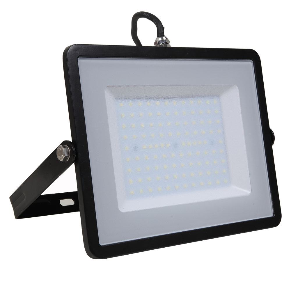 LED Floodlight 100W, 840, 8000lm, IP65, 230V, schwarz