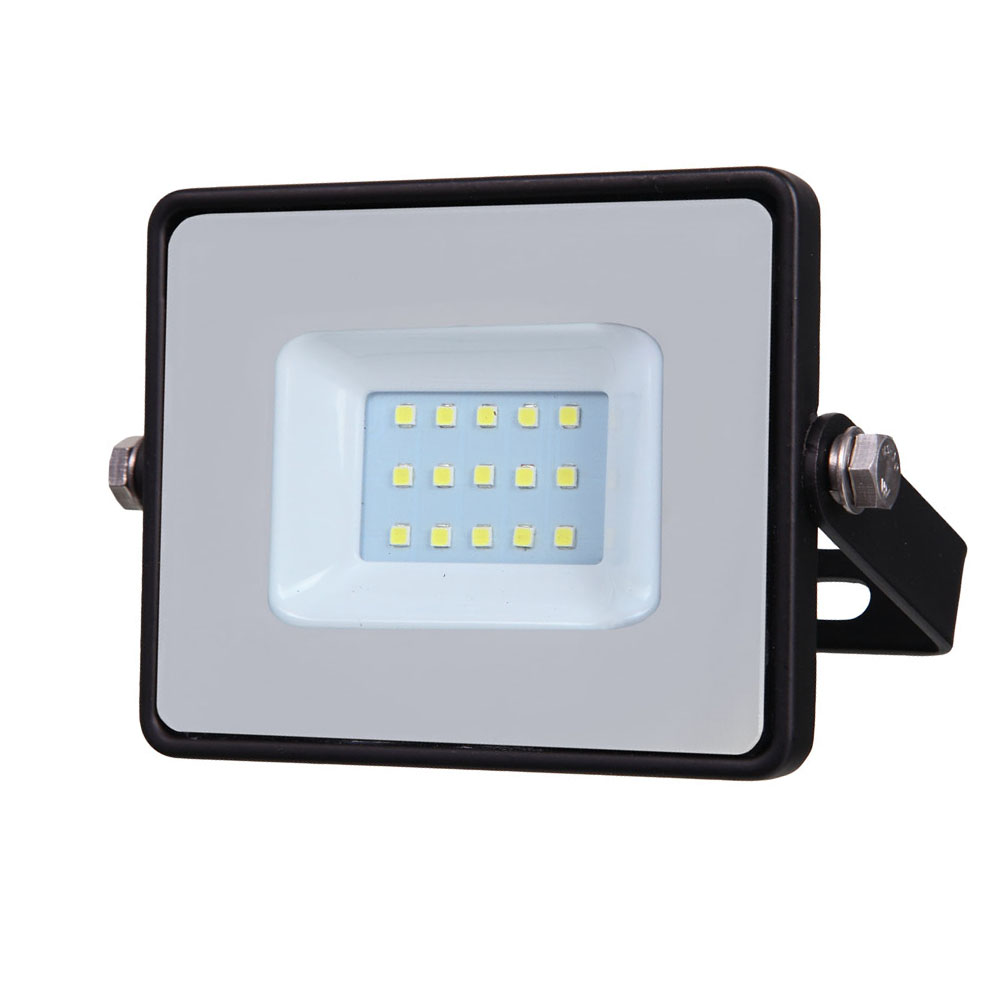 LED Floodlight 10W, 830, 800lm, IP65, 230V, schwarz