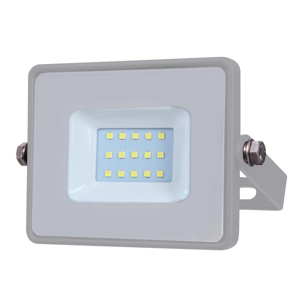 1 Stk LED Fluter 10W 800lm 6400K 220-240V IP65 100° grau LIVTS432--