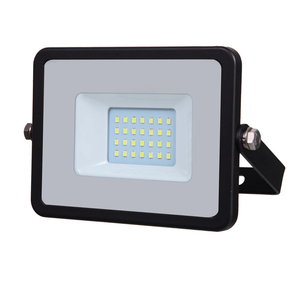 LED Floodlight 20W, 830, 1600lm, IP65, 230V, schwarz