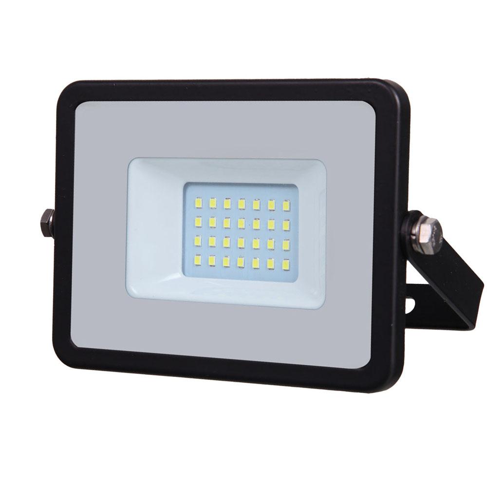 LED Floodlight 20W, 840, 1600lm, IP65, 230V, schwarz