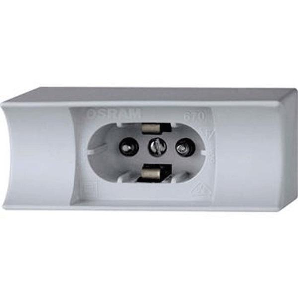 1 Stk RAL1 Fassung für Sockel S14d, für Lampen mit 1 Sockel, grau LIZLFA0945