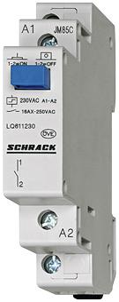 1 Stk Reiheneinbau Fernschalter, 1 Schließer, 24VAC/12VDC LQ611024--