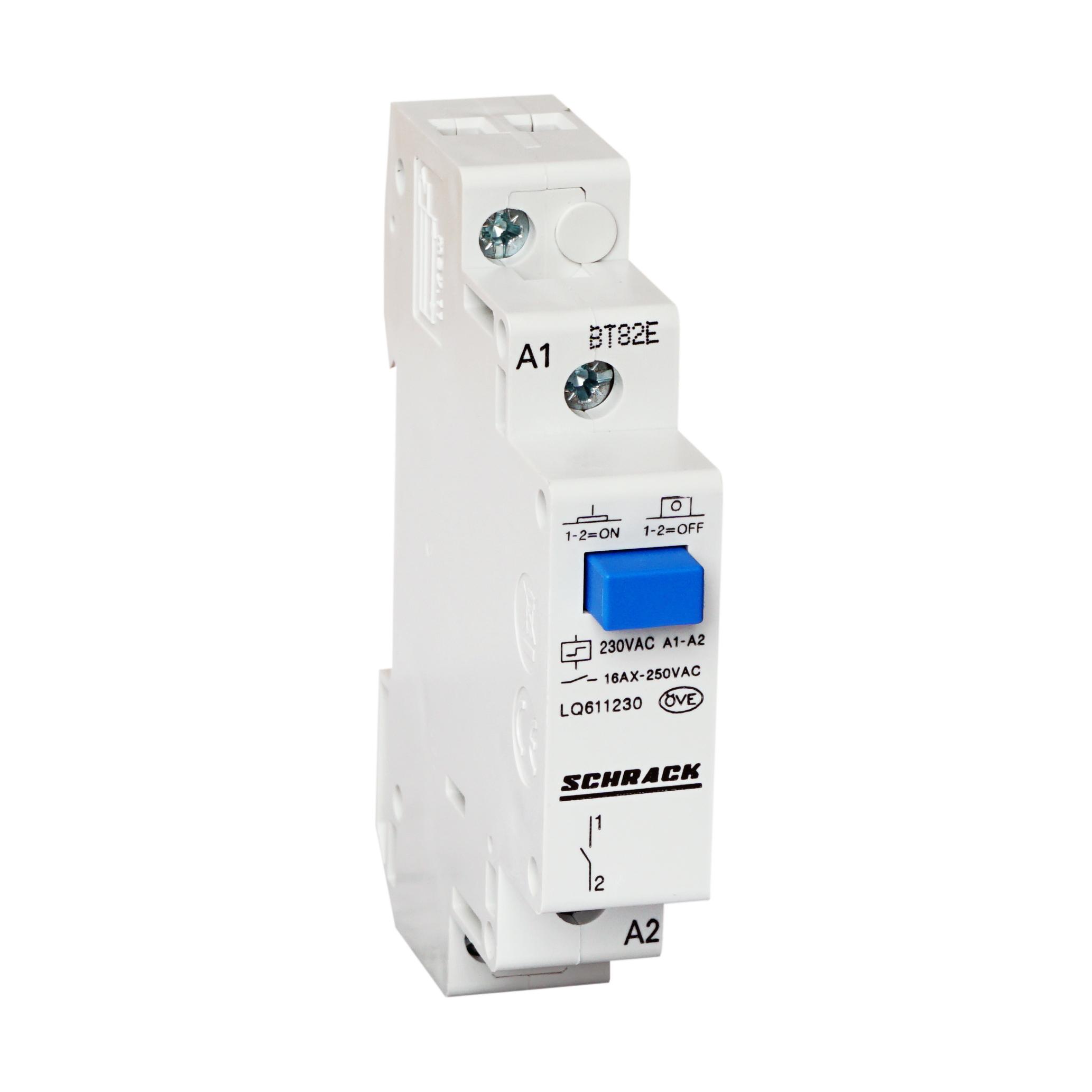 1 Stk Reiheneinbau Fernschalter, 1 Schließer, 230VAC LQ611230--
