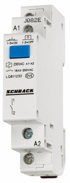 1 Stk Reiheneinbau Fernschalter, 1 Wechsler, 230VAC LQ617230--