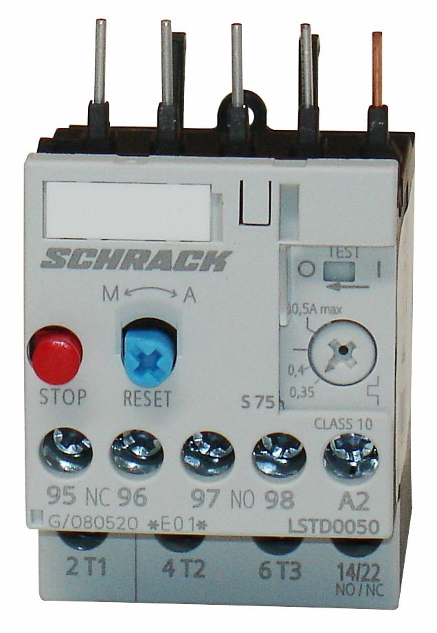 1 Stk Thermisches Überlastrelais 0,35 - 0,50A, Baugröße 00 LSTD0050--