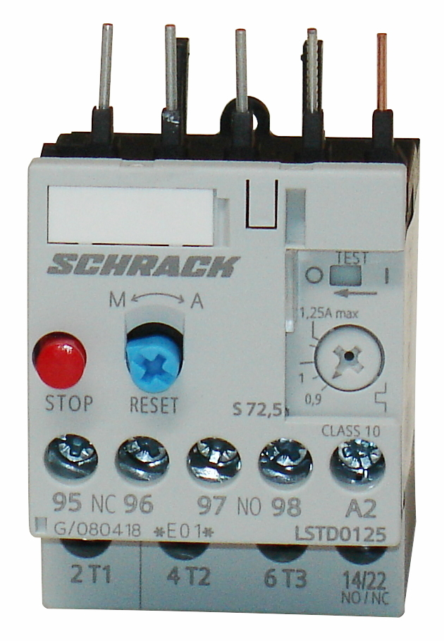 1 Stk Thermisches Überlastrelais 0,90 - 1,25A, Baugröße 00 LSTD0125--