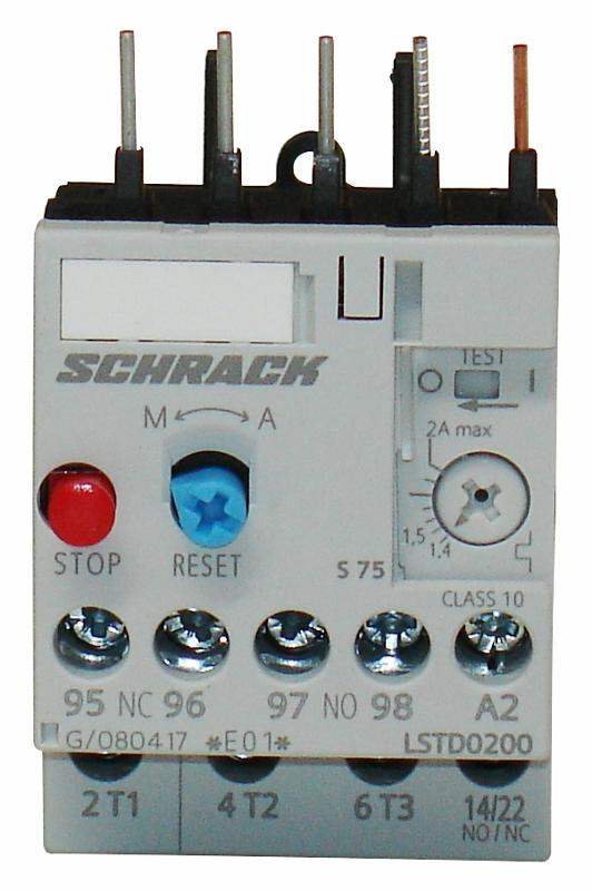 1 Stk Thermisches Überlastrelais 1,40 - 2,00A, Baugröße 00 LSTD0200--