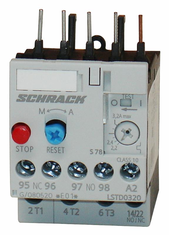 1 Stk Thermisches Überlastrelais 2,20 - 3,20A, Baugröße 00 LSTD0320--