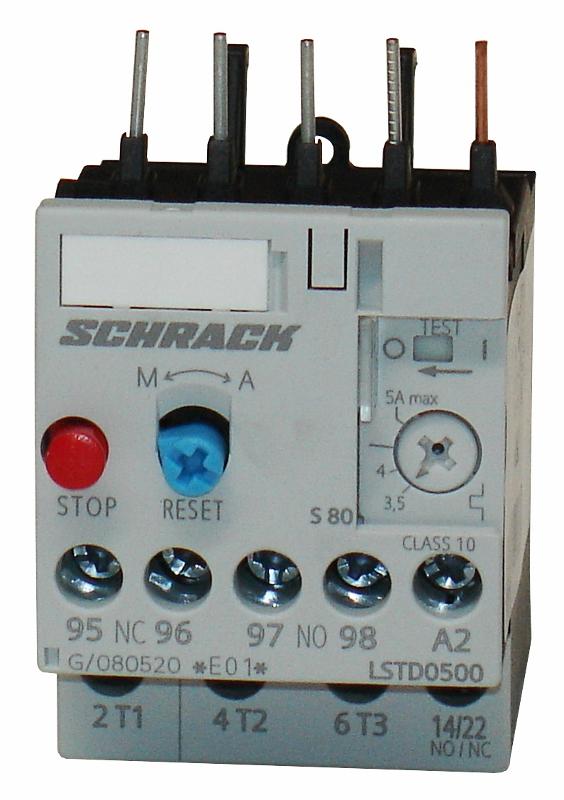 1 Stk Thermisches Überlastrelais 3,50 - 5,00A, Baugröße 00 LSTD0500--