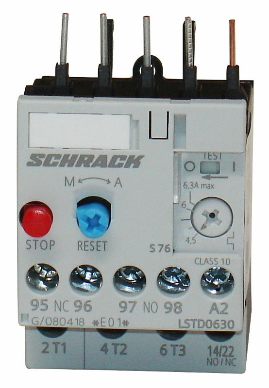 1 Stk Thermisches Überlastrelais 4,50 - 6,30A, Baugröße 00 LSTD0630--