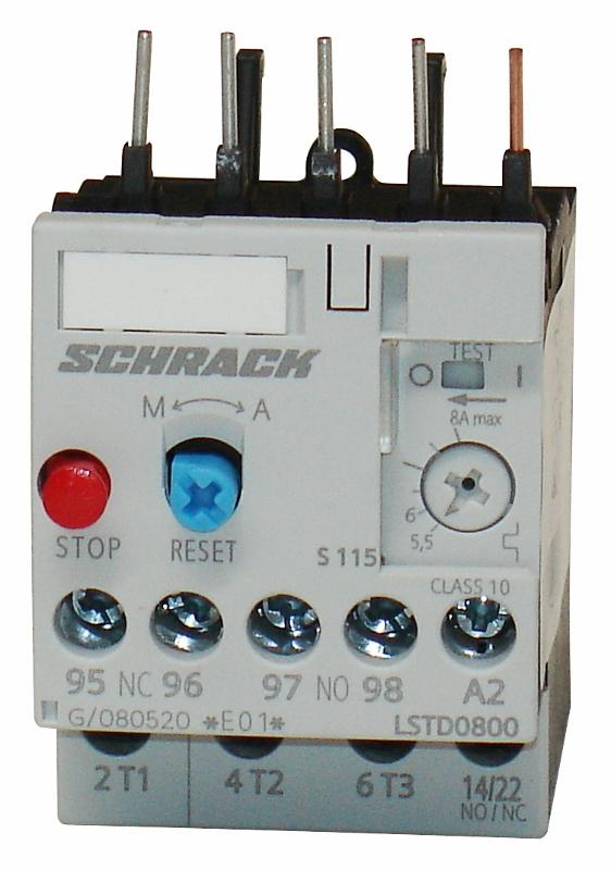1 Stk Thermisches Überlastrelais 5,50 - 8,00A, Baugröße 00 LSTD0800--