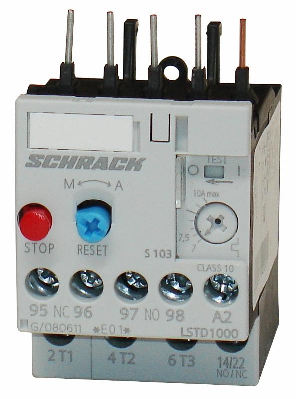 1 Stk Thermisches Überlastrelais 7,00 - 10,00A, Baugröße 00 LSTD1000--