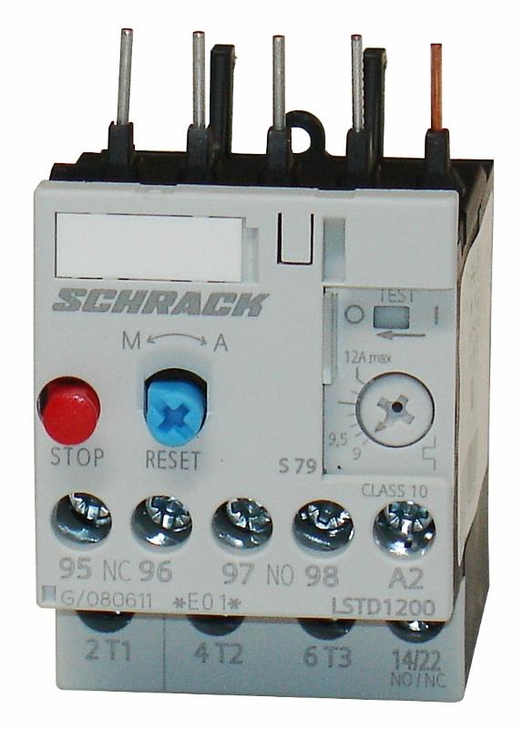 1 Stk Thermisches Überlastrelais 9,00 - 12,00A, Baugröße 00 LSTD1200--